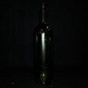 Wine Bottle, Green long Neck with shoulder