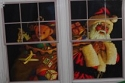 Santa Claus with Toy Sack Double Window Poster