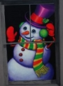 Snappy the Snowman Single Window Poster