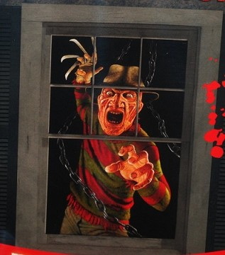freddy krueger single window poster - Freddy Krueger Halloween Decorations