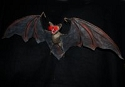 Screaming Flying Brown Bat with Light-up Eyes