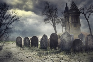 Graveyard Props and Tombstones