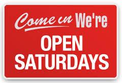 Open Till 4:00 Saturday OCT 21