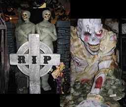 Halloween R.I.P. Cross and Masks