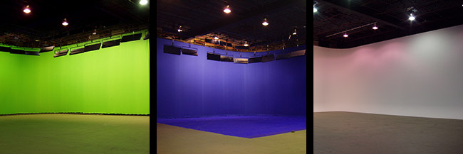 Pre-lit Green and Blue Screens