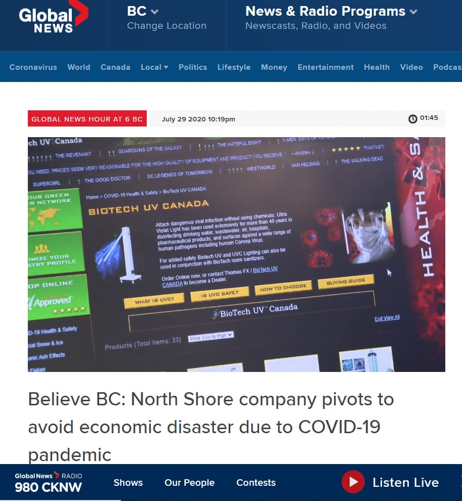 July 29 2020 - Global News: Thomas FX Pivots to Avoid Economic Disaster due to COVID-19