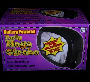 Mega Strobe Light, Battery Operated