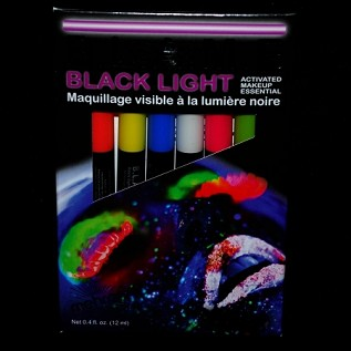 Mehron Black Light Activated Cream Makeup Kit