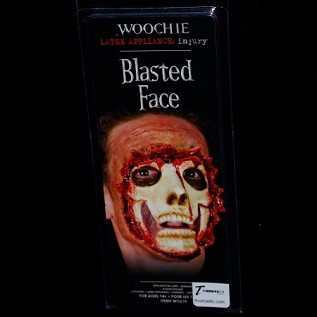 Woochie Blasted Face Latex Appliance