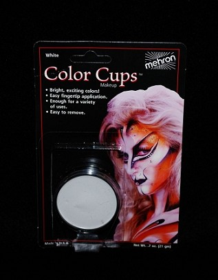 Mehron White Greasepaint .5 oz