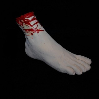 Bloody Gory Severed Foot