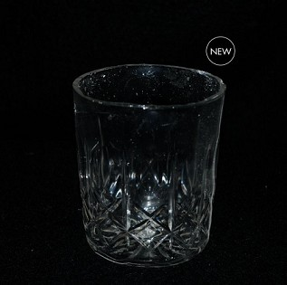 Cross & Olive Etched Crystal Cocktail Glass