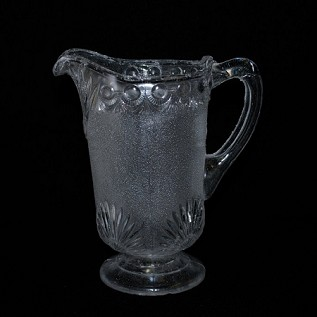Etched Frosted Moonstone Pitcher