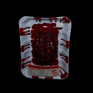Bloody Meat Tray with Brain