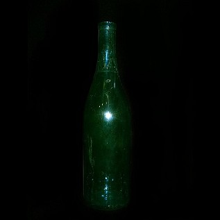 Wine Bottle, no shoulder - Green