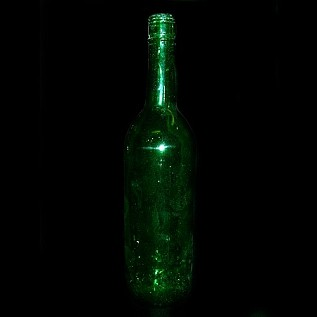 Wine Bottle Straight Neck - Green