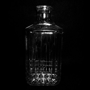 Fancy Etched Whiskey Decanter