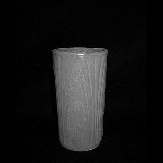 "Textured Water Glass .  ""milk glass"" color"