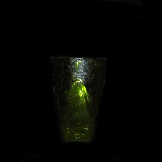Old Fashioned Water Glass Green