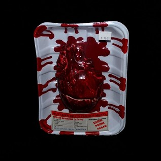 Bloody Meat Tray with Heart