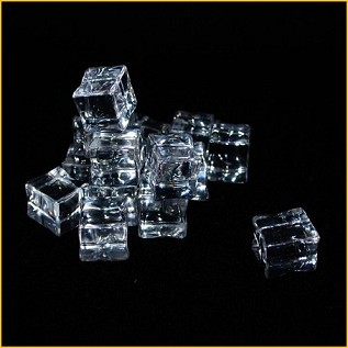 "Reusable Acrylic Ice Cubes 1"" x 3/4"" (12 pcs)"