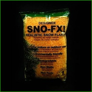 Biodegradable Sno-FX! ™ Orange Snow 4 qt bag