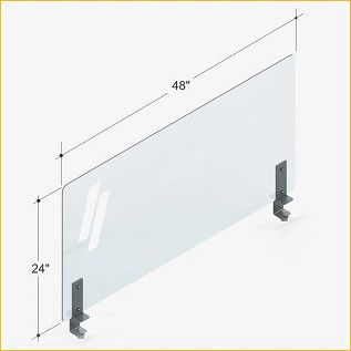 METAL CLAMP 48 (NO CUTOUT) PLEXI SHIELD