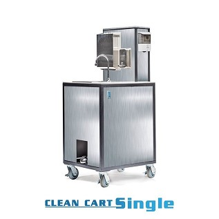 Stainless Steel PPE Clean Cart  Single Sink